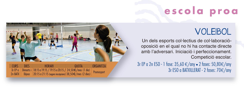 escola proa extra lectives voleibol